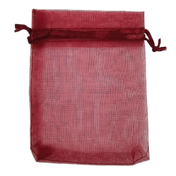 10pcs Burgundy Organza Bag 7cm x 9cm